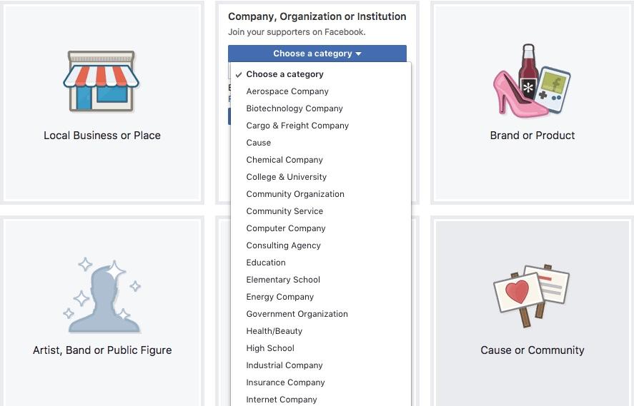 FB Categories drop down.jpeg